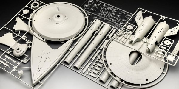 x_rev04991 Star Trek TOS Model Kit - 1/600 U.S.S. Enterprise NCC-1701 48 cm