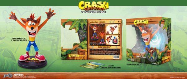 x_f4fcrashbt Crash Bandicoot N. Sane Trilogy PVC Szobor - Crash Bandicoot 23 cm