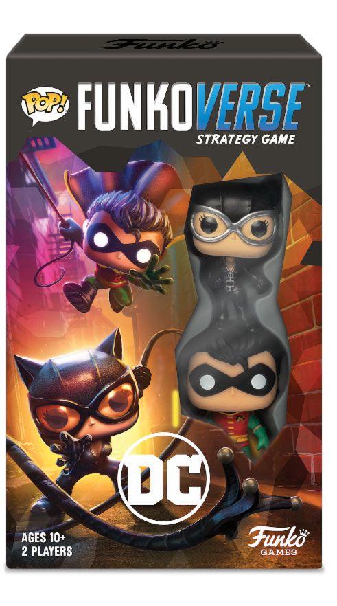 x_fk42646 DC Comics Funkoverse társasjáték 2 Character Expandalone *English Version*