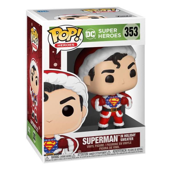 x_fk50651 DC Comics Funko POP! Figura - DC Holiday: Superman in Holiday Sweater 9 cm