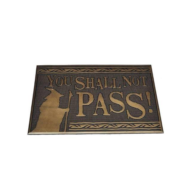 x_gp85483 Lord of the Rings gumi lábtörlő - You Shall Not Pass 40 x 60 cm