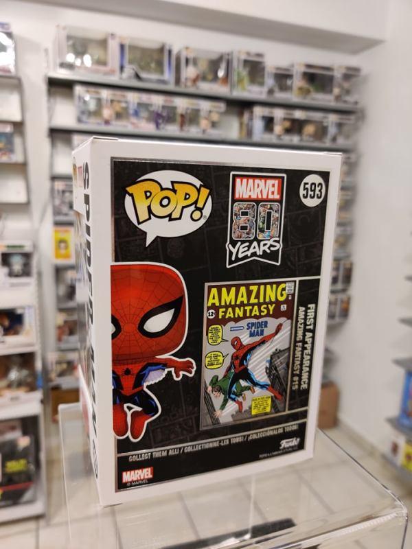 Marvel 80th POP! Figura - Spider-Man (First Appearance) (Metallic)