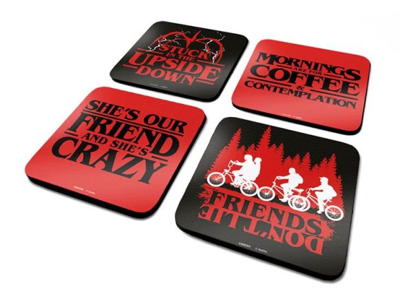 Stranger Things Coaster 4-Pack Phrases- csp0025