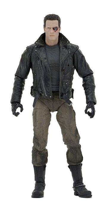 Terminator Akciófigura - Ultimate Police Station Assault T-800 (Motorcycle Jacket) 18 cm