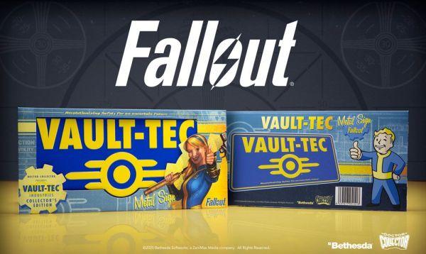 x_doco-95151 Fallout Metal Sign / Fém Tábla - Vaul-Tec