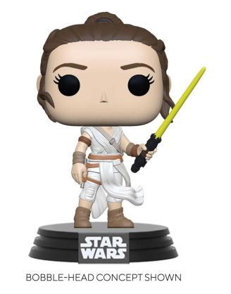 Star Wars Episode IX POP! Movies Vinyl Figure Rey w/ Yellow Saber 9 cm - fk51482