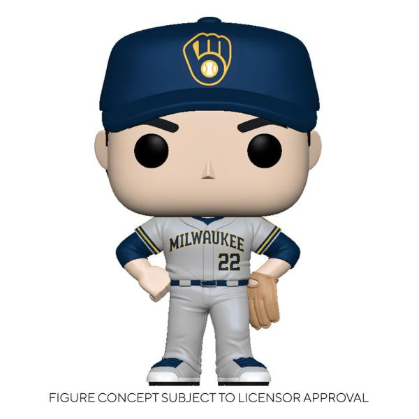 MLB POP! Sports Vinyl Figure Brewers - Christian Yelich (Road Uniform) 9 cm