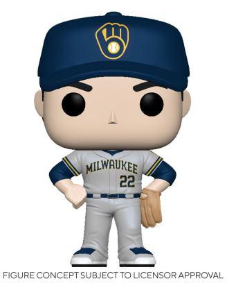 MLB POP! Sports Vinyl Figure Brewers - Christian Yelich (Road Uniform) 9 cm