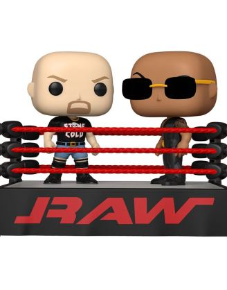 WWE POP Moment! Vinyl Figures 2-Pack The Rock vs Stone Cold in Wrestling Ring 9 cm - fk54661