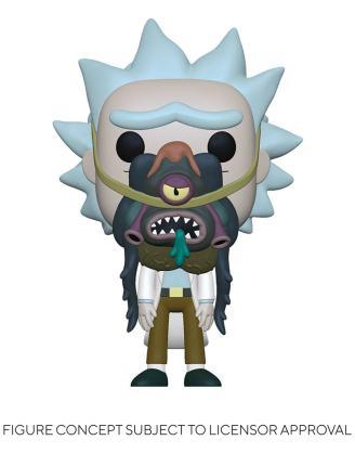 Rick & Morty POP! Animation Vinyl Figure Rick w/ Glorzo 9 cm-fk55250