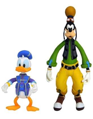 Kingdom Hearts 3 Select Akciófigura 2-Pack - Goofy & Donald 10 - 18 cm