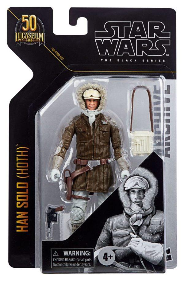 x_hasf09615l00_s Star Wars Black Series Archive Akciófigura - 2021 50th Anniversary Wave 1 - Han Solo (Hoth) (Episode V)