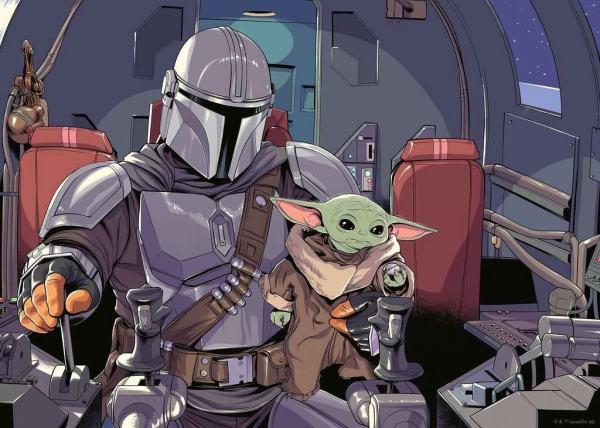 x_rave16565 Star Wars The Mandalorian Challenge Jigsaw Puzzle - Baby Yoda Cartoon (1000 pieces)