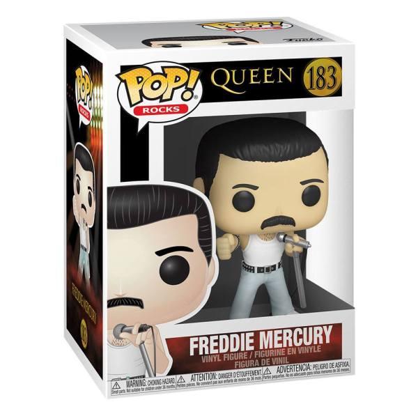 x_fk33735 Queen Funko POP! Rocks Vinyl Figura - Freddie Mercury Radio Gaga 9 cm