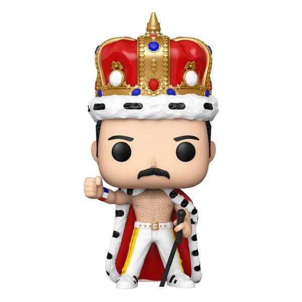 Queen Funko POP! Rocks Vinyl Figura - Freddie Mercury King 9 cm