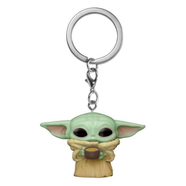 Star Wars The Mandalorian Pocket POP! Kulcstartó - The Child w/Cup 4cm