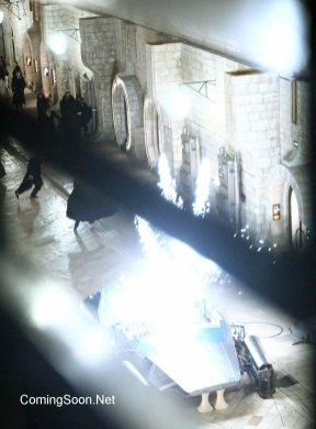 Filming takes place on the set of 'Star Wars: Episode VIII on Stradun, the main street of Dubrovnik. During one scene, costumed cast members gather on the street while a landspeeder is made to explode causing them to flee. Featuring: Atmosphere Where: Dubrovnik, Croatia When: 13 Mar 2016 Credit: WENN.com **Only available for publication in UK, USA, Germany, Austria, Switzerland. Not available for subscribers.**