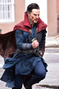 "NEW YORK, NEW YORK - APRIL 02: Actor Benedict Cumberbatch is seen filming ""Doctor Strange"" on location on April 2, 2016 in New York City. (Photo by Michael Stewart/GC Images)"