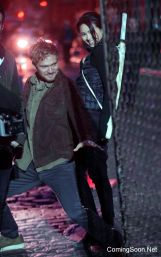 """NEW YORK, NY - DECEMBER 03: Finn Jones, Jessica Henwick from """"Iron Fist"""" filming Marvel's """"The Defenders"""" on December 3, 2016 in New York City. (Photo by Steve Sands/GC Images)"""