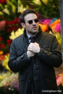 """NEW YORK, NY - DECEMBER 07: Charlie Cox filming Marvel's """"The Defenders"""" on December 7, 2016 in New York City. (Photo by Steve Sands/GC Images)"""