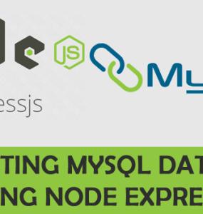 Connecting Mysql Database Using Node Express