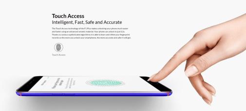 Fingerprint Scanner on the Oppo F1 Plus