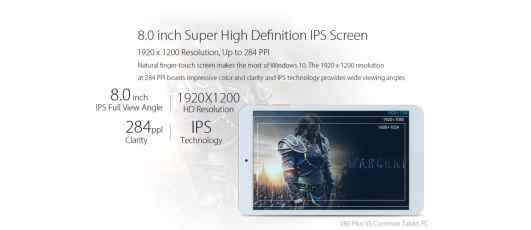 Onda V80 Plus Screen Details