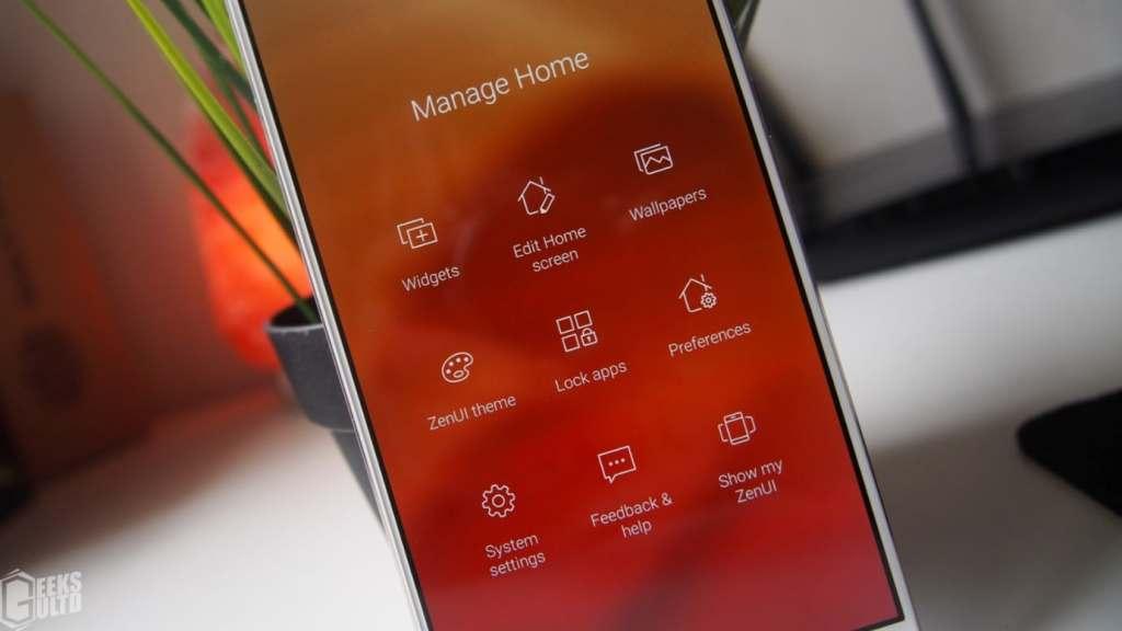 Asus Zenfone 4 Selfie Pro ZenUI Customization Options - Manage Home