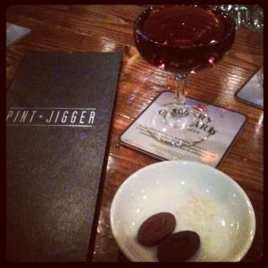 """The """"original"""" Whiskey-A-Cho-Cho from Pint+Jigger."""