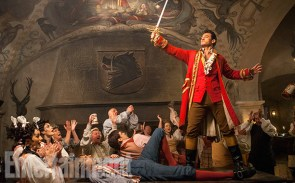 Beauty and the Beast (2017) Gaston (Luke Evans) a handsome but arrogant brute, holds court in the village tavern.