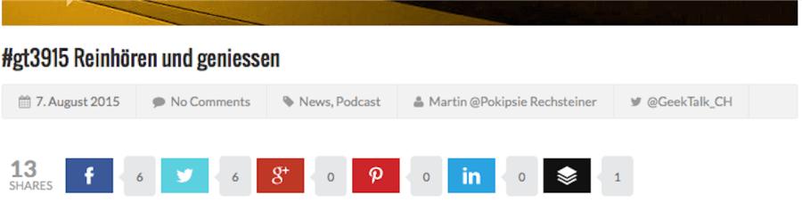 Shareverlust im #GeekTalk