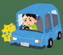 koutsu_jiko_car_man-480x421 【事故】 ちょっとした交通事故でぶつけられたとき怪我して無くても慰謝料ぶんどる方法教えて