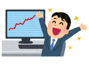 kabu_chart_man_happy-480x349 【投資】投資始めて9ヶ月経った結果がこれだぁワンツースリー👉