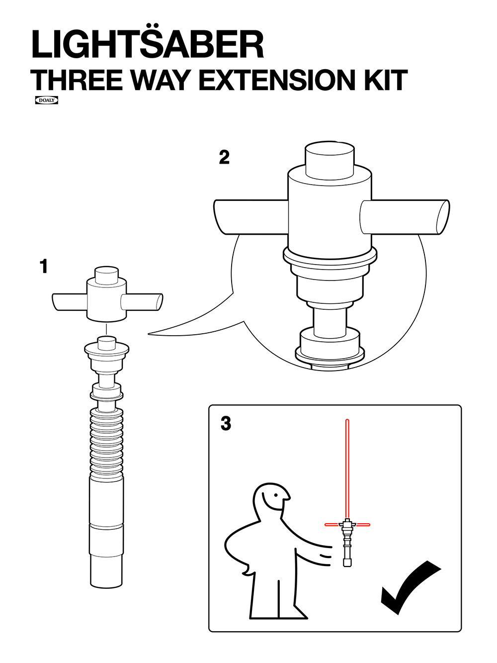 IKEA Style Manual for Lightsaber Extension Kit by Doaly