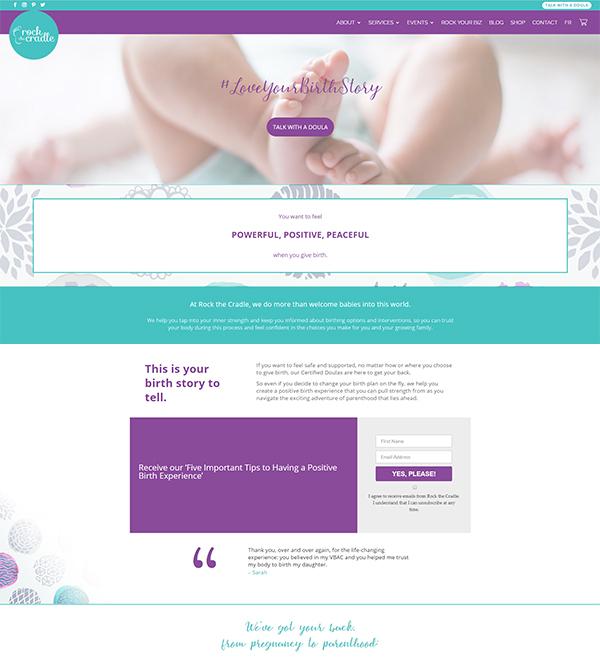 Rock The Cradle Website