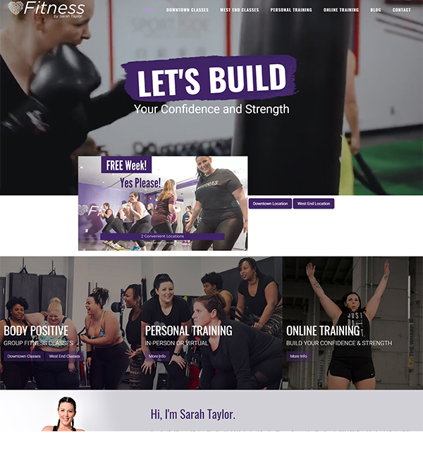 Fitness by Sarah Taylor Website
