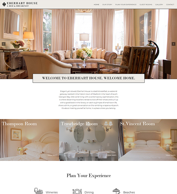 Eberhart house Website
