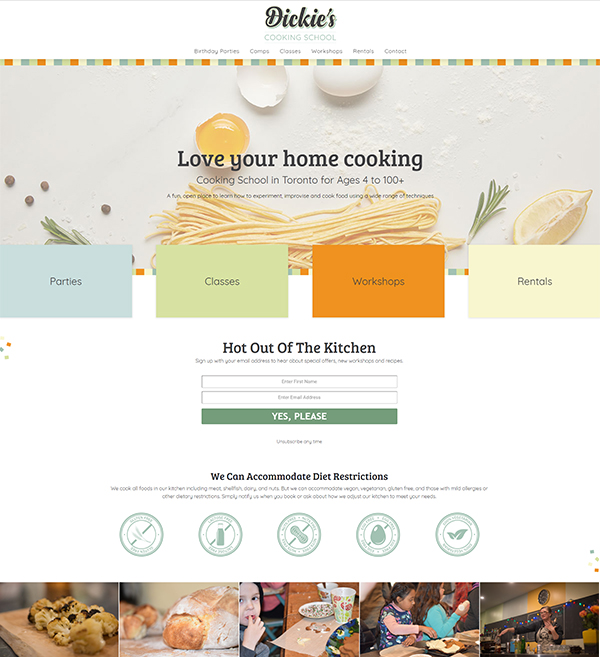 Dickie's Cooking School Website