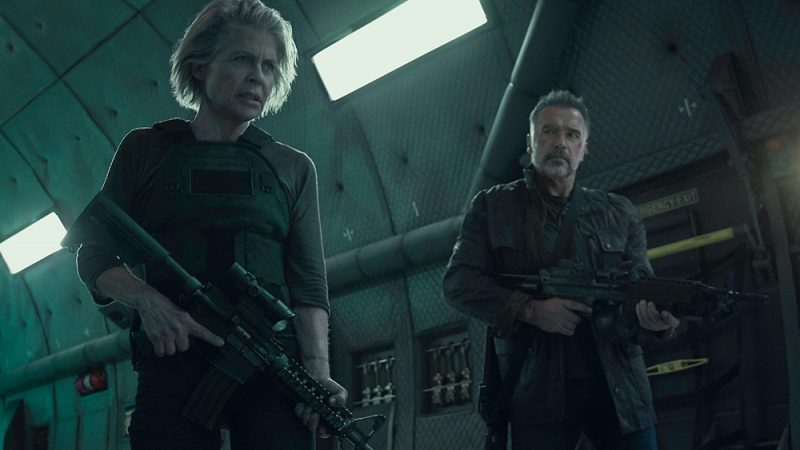 "Linda Hamilton, left, and  Arnold Schwarzenegger star in Skydance Productions and Paramount Pictures' ""TERMINATOR: DARK FATE."""