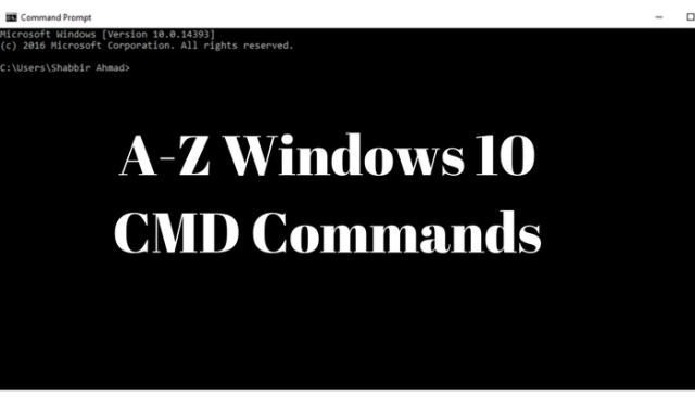 Windows 10 CMD Commands