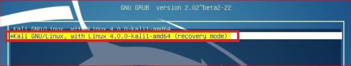 forgot kali linux password