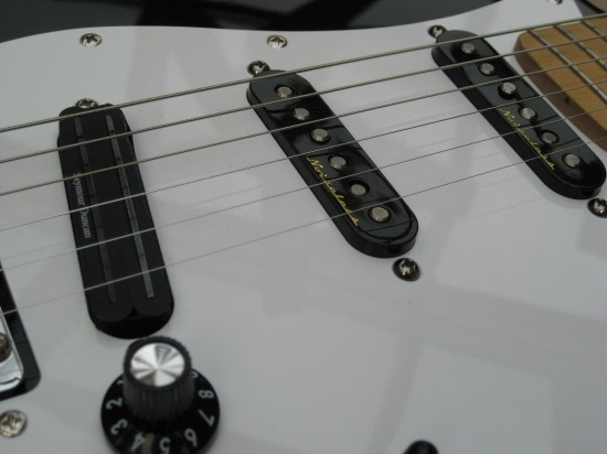 A shot of my homemade frankenstrat. One day I will get around to writing about it.