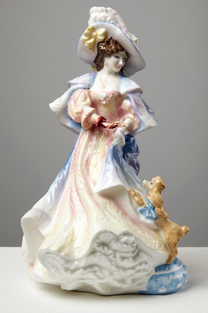 Gory and Tattooed Ceramic Figurines