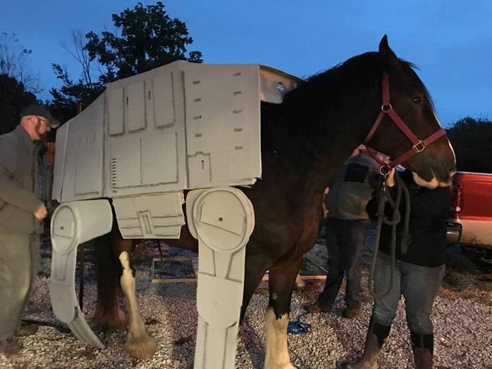 ATAT Star Wars Horse Cosplay