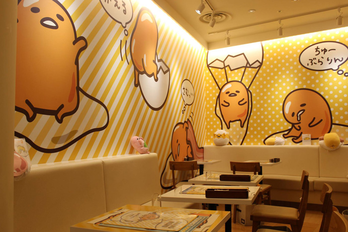 cool chairs for girls chair with speakers gudetama cafe in japan