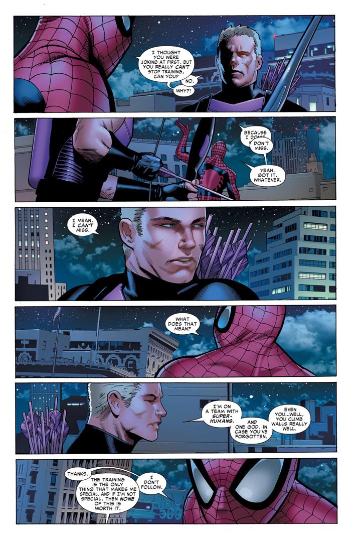 Hawkeye  SpiderMan Comic