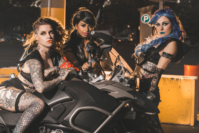 Biker Gang Sailor Moon Group Cosplay