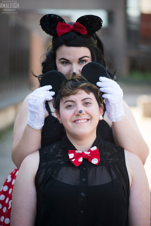 Mickey and Minnie Mouse Cosplay