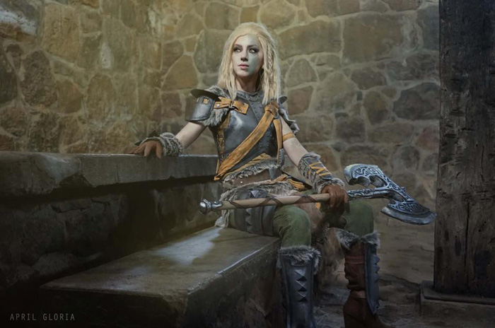 Wallpaper Geek Girl Mjoll The Lioness From Skyrim Cosplay