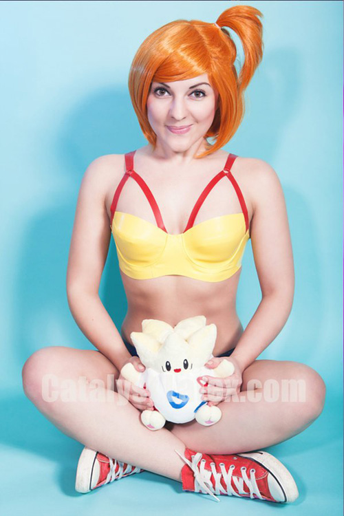 Latex Misty from Pokemon Cosplay